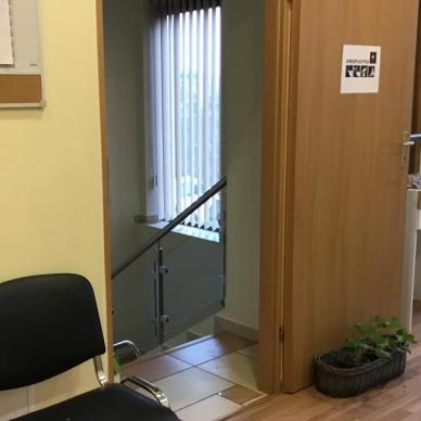 Sekretariat, Korytarz- przejście do Sali Terapii zajęciowej, Sensoplastyki, Terapii ręki i Zajęć rozwijających uzdolnienia